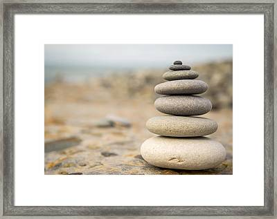 Framed Print featuring the photograph Relaxation Stones by John Williams