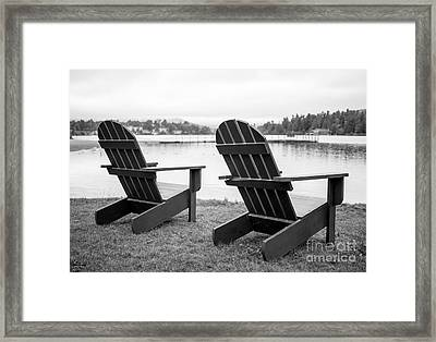 Relaxing At The Lake  Framed Print by Edward Fielding
