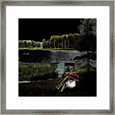Framed Print featuring the photograph Relaxing By Moonlight by David Patterson