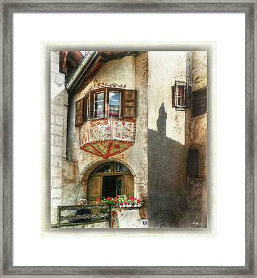 Framed Print featuring the photograph Relaxing Evening Sun  by Hanny Heim