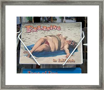 Relaxing In Ca Framed Print