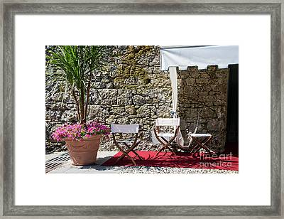 Relaxing In Portofino Italy Framed Print by Brenda Kean