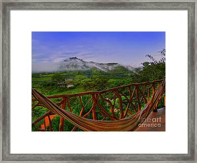 Relaxing In Vilcabamba - Ecuador Framed Print by Al Bourassa