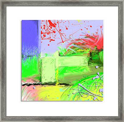 Relaxing Intermission Framed Print by Snake Jagger