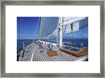Relaxing On Deck Framed Print