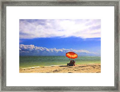 Framed Print featuring the digital art Relaxing On Sanibel by Sharon Batdorf