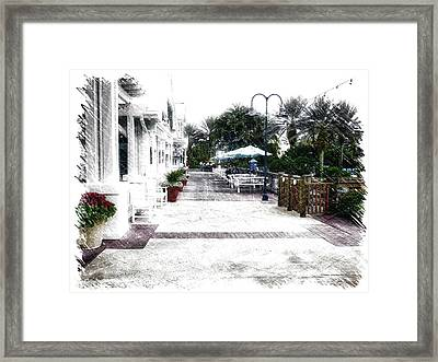 Relaxing On The Patio Walt Disney World Framed Print