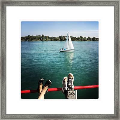 Relaxing Summer Boat Trip Framed Print