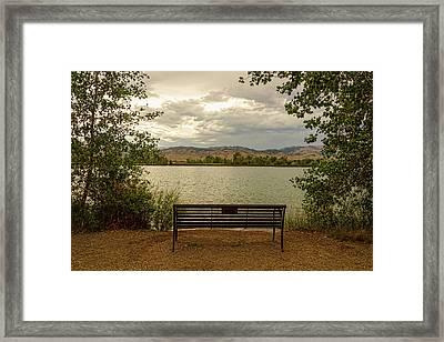 Framed Print featuring the photograph Relaxing View by James BO Insogna
