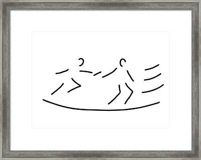 Relay Race Athletics Stick Framed Print