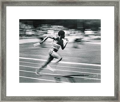 Relay Runner Framed Print by Jim Wright