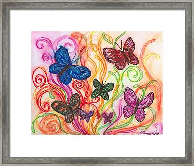 Releasing Butterflies I Framed Print