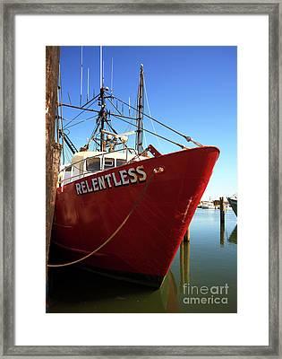 Relentless At Long Beach Island Framed Print by John Rizzuto