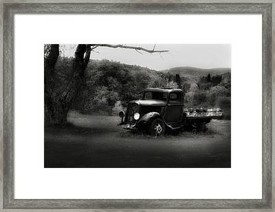 Framed Print featuring the photograph Relic Truck by Bill Wakeley