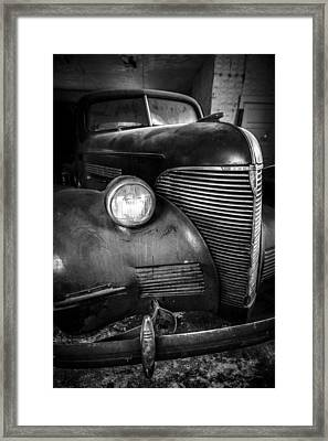 Old Car - Blue Ridge Mountains Framed Print