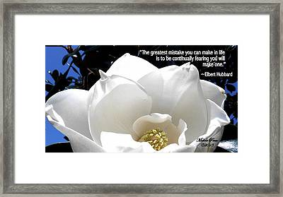 Relief 2, With Quote.  Framed Print