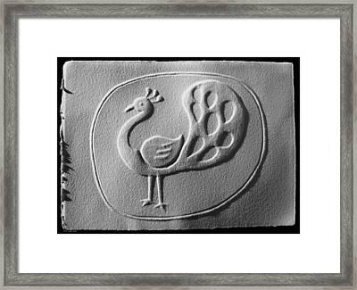 Relief Peacock Framed Print by Suhas Tavkar