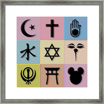 Religion? 2 Framed Print by Tony Rubino