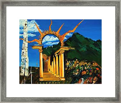 Religion And Nature Framed Print by Gregory Allen Page