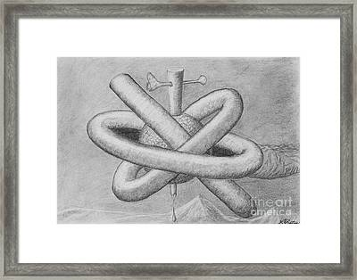 Framed Print featuring the drawing Religion Of Science by Yulia Kazansky