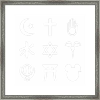 Religions? Take A Closer Look 1 Framed Print by Tony Rubino