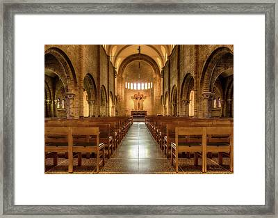 Religious Path Framed Print by Wim Lanclus