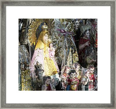 Religious Statuettes For Sale Framed Print by Skip Nall