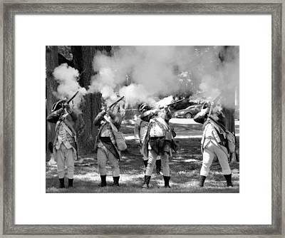 Reliving History-bw Framed Print