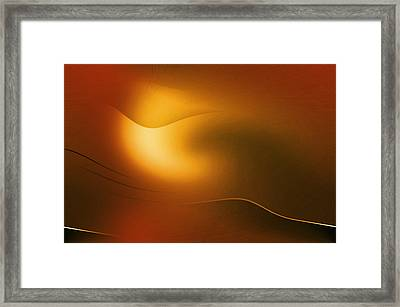Relucent Gold Framed Print