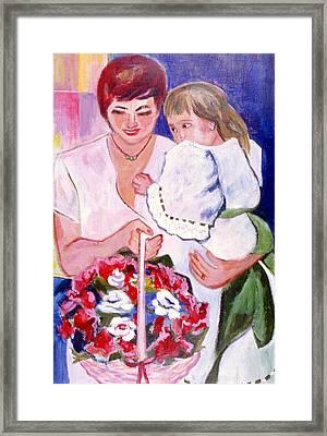 Reluctant Flower Girl Framed Print by Betty Pieper