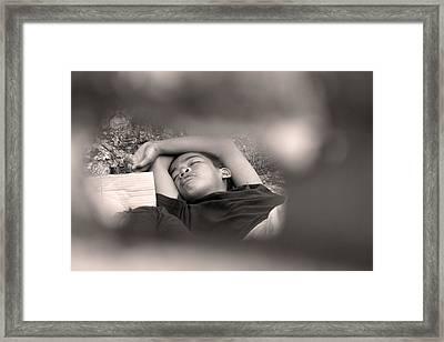REM Framed Print by Jez C Self