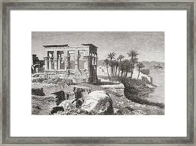 Remains Of The Temple At Philae, Egypt Framed Print