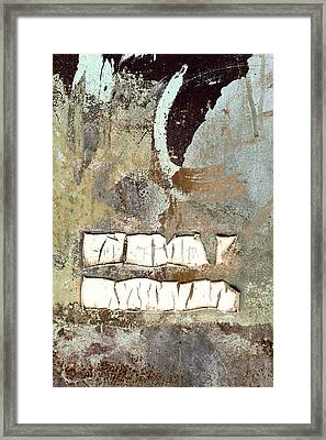 Remains Unsaid Framed Print by Carol Leigh