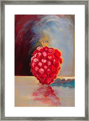 Remarkable Raspberry Framed Print by Diane Woods