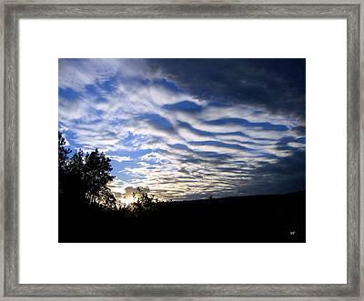 Remarkable Sky Framed Print by Will Borden