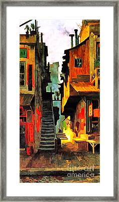 Framed Print featuring the photograph Remastered Art Chinatown San Francisco 1886 By Edwin Deakin 20170409 by Wingsdomain Art and Photography