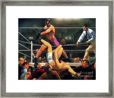 Remastered George Bellows Dempsey And Firpo 20170408 Framed Print by Wingsdomain Art and Photography