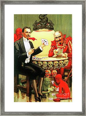 Framed Print featuring the photograph Remastered Nostagic Vintage Poster Art Alexander Fredrik Beats The Devil 20170416 by Wingsdomain Art and Photography