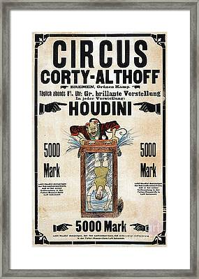 Framed Print featuring the photograph Remastered Nostagic Vintage Poster Art Houdini Water Filled Torture 20170416 by Wingsdomain Art and Photography