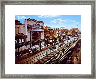 Remastered Photograph Bowery Savings Bank New York City 1898 20170716 Framed Print