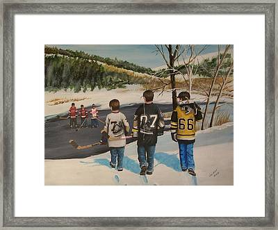 Rematch 2008 Framed Print by Ron  Genest