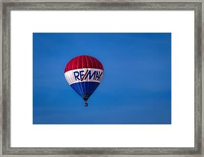 Remax Hot Air Balloon Framed Print