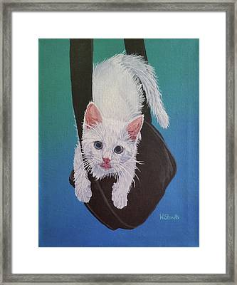 Rembrandt Justa Swingin Framed Print by Wendy Shoults