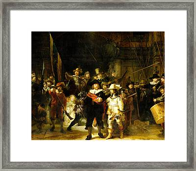 Rembrandt Nightwatch Framed Print