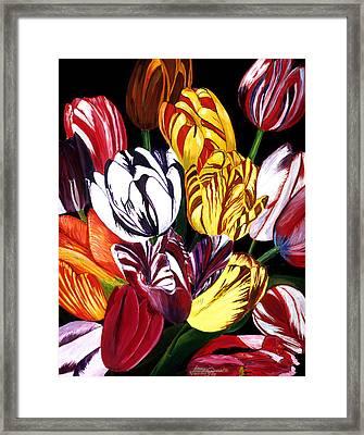 Rembrandt Tulips Framed Print