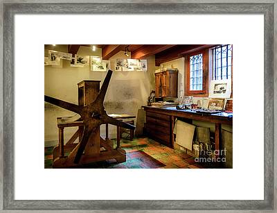 Framed Print featuring the photograph Rembrandt's Former Graphic Workshop In Amsterdam by RicardMN Photography