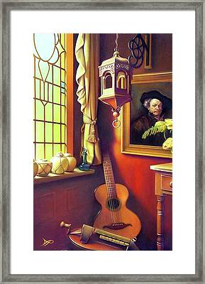 Rembrandt's Hurdy-gurdy Framed Print