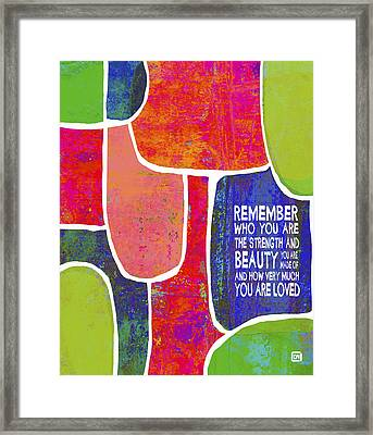 Framed Print featuring the painting Remember by Lisa Weedn