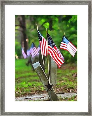 Remember The Fallen Framed Print by Dan Sproul