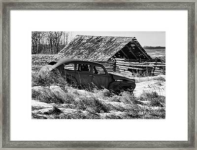 Remember The Past Work For The Future Framed Print by Bob Christopher